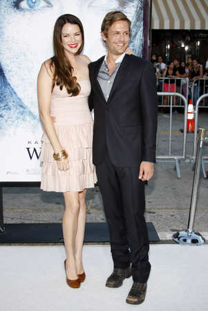 Gabriel Macht and Jacinda Barrett at the Los Angeles premiere of Whiteout held at the Man Village Theater in Westwood, California, United States on September 9, 2009.