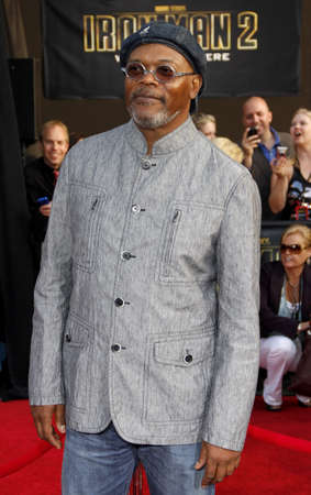 Samuel L. Jackson at the World premiere of Iron Man 2 held at the El Capitan Theater in Hollywood, California, United States on April 26, 2010.