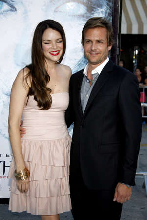 macht: Gabriel Macht and Jacinda Barrett at the Los Angeles premiere of Whiteout held at the Mann Village Theater in Westwood, USA on September 9, 2009. Editorial