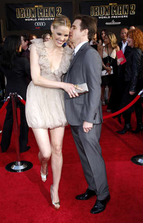 Leslie Bibb and Sam Rockwell at the Los Angeles premiere of 'Iron Man 2' held at the El Capitan Theatre in Hollywood, USA on April 26, 2010. Editorial