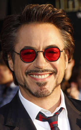 Robert Downey Jr. at the Los Angeles premiere of 'Iron Man 2' held at the El Capitan Theatre in Hollywood, USA on April 26, 2010.