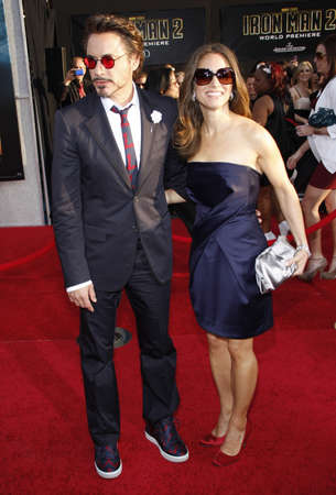 Robert Downey Jr. and Susan Downey at the Los Angeles premiere of Iron Man 2 held at the El Capitan Theatre in Hollywood, USA on April 26, 2010.