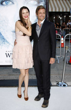 Garbiel Macht and Jacinda Barrett at the Los Angeles premiere of Whiteout held at the Mann Village Theatre in Westwood, USA on September 9, 2009.