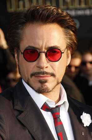 Robert Downey Jr. at the World premiere of Iron Man 2 held at the El Capitan Theater in Hollywood, California, United States on April 26, 2010. Editorial