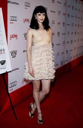 Krysten Ritter at the Los Angeles premiere of 'The September Issue' held at the LACMA in Los Angeles, USA on September 8, 2009.
