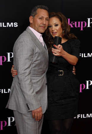 leah: Leah Remini and Angelo Pagan at the Los Angeles premiere of The Back-Up Plan held at the Westwood Village Theater in Westwood, California, United States on April 21, 2010. Editorial