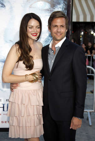 Gabriel Macht and Jacinda Barrett at the Los Angeles premiere of Whiteout held at the Mann Village Theater in LWestwood, California, United States on September 9, 2009.