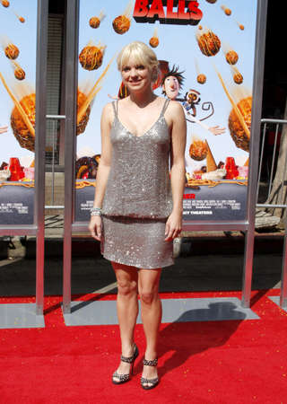 Anna Faris at the Los Angeles premiere of Cloudy With A Chance Of Meatballs held at the Mann Village Theater in Westwood, California, United States on September 12, 2009. Editorial