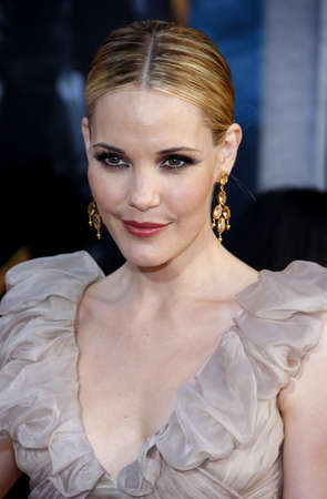 Leslie Bibb at the World premiere of Iron Man 2 held at the El Capitan Theater in Hollywood, USA on April 26, 2010.