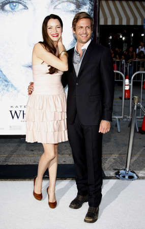 Gabriel Macht and Jacinda Barrett at the Los Angeles premiere of Whiteout held at the Mann Village Theater in Westwood, USA on September 9, 2009. Editorial