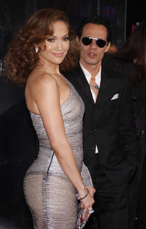 Marc Anthony and Jennifer Lopez at the Los Angeles premiere of The Back-Up Plan held at the Regency Village Theatre in Westwood, USA on April 21, 2010. Editorial