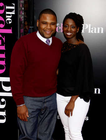 Anthony Anderson at the Los Angeles premiere of The Back-Up Plan held at the Westwood Village Theater in Hollywood, USA on April 21, 2010.