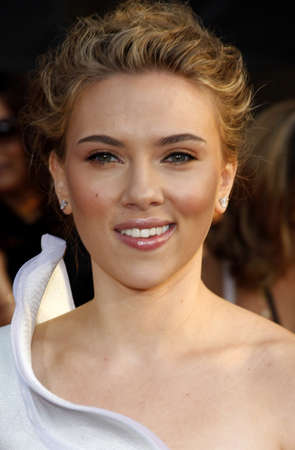 Scarlett Johansson at the World premiere of Iron Man 2 held at the El Capitan Theater in Hollywood, USA on April 26, 2010.