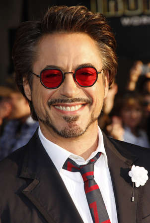Robert Downey Jr. at the World premiere of Iron Man 2 held at the El Capitan Theater in Hollywood, USA on April 26, 2010.