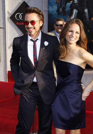 Robert Downey Jr. and Susan Downey at the Los Angeles premiere of 'Iron Man 2' held at the El Capitan Theatre in Hollywood, USA on April 26, 2010.