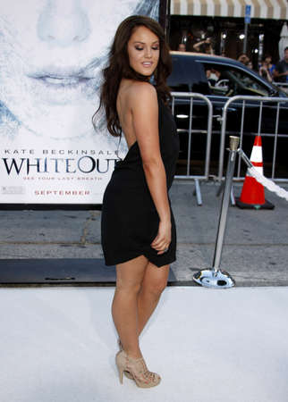 Lacey Schwimmer at the Los Angeles premiere of Whiteout held at the Mann Village Theatre in Westwood, USA on September 9, 2009.