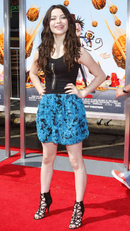 Miranda Cosgrove at the Los Angeles premiere of Cloudy With A Chance Of Meatballs held at the Mann Village Theater in Los Angeles, USA on September 12, 2009.