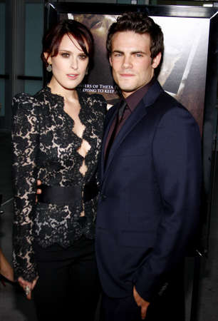 willis: Micah Alberti and Rumer Willis at the Los Angeles premiere of Sorority Row held at the ArcLight Cinemas in Hollywood, USA on September 3, 2009.