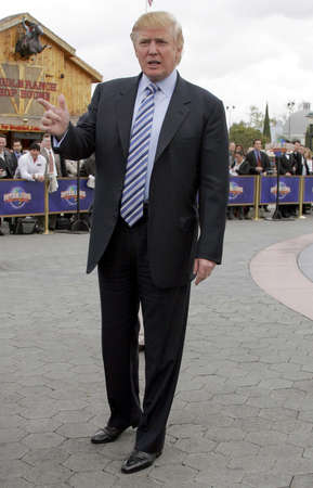 Donald Trump at the sixth season casting call search for The Apprentice held at the Universal Studios in Hollywood, USA on March 10, 2006. Editorial
