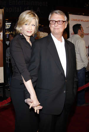 sawyer: Mike Nichols and Diane Sawyer at the World premiere of Charlie Wilsons War held at the Universal Studios in Hollywood, USA on December 10, 2007. Editorial