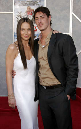 bloodgood: Moon Bloodgood and Eric Balfour at the World premiere of Eight Below held at the El Capitan Theater in Hollywood, USA on February 12, 2006.