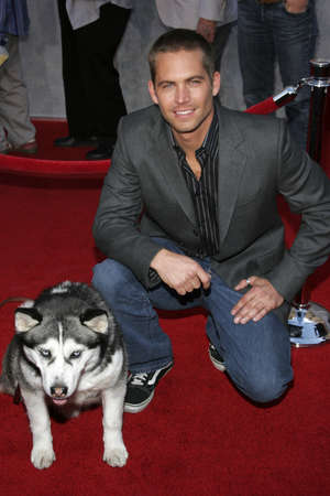 Paul Walker at the World premiere of