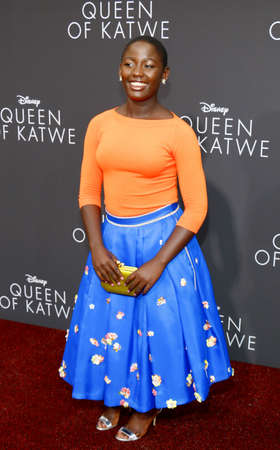 madina: Madina Nalwanga at the Los Angeles premiere of Queen Of Katwe held at the El Capitan Theatre in Hollywood, USA on September 20, 2016.
