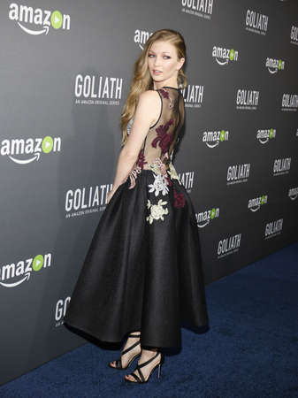west hollywood: Diana Hopper at the Los Angeles premiere of Amazons Goliath held at the London Hotel in West Hollywood, USA on September 29, 2016. Editorial