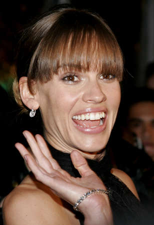 Hilary Swank at the Los Angeles premiere of Freedom Writers held at the at the Mann Village Theatre in Westwood, USA on January 4, 2007. Editorial