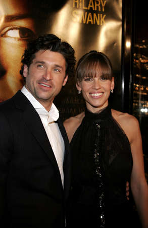 Patrick Dempsey and Hilary Swank at the Los Angeles premiere of 'Freedom Writers' held at the at the Mann Village Theatre in Westwood, USA on January 4, 2007.