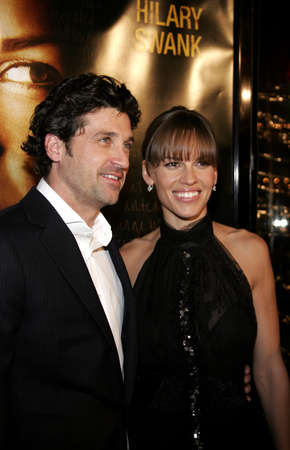 patrick: Patrick Dempsey and Hilary Swank at the Los Angeles premiere of Freedom Writers held at the Mann Village Theater in Westwood, California, United States on January 4, 2007.