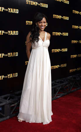 Meagan Good at the Los Angeles premiere of