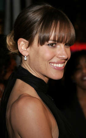 mann: Hilary Swank at the Los Angeles premiere of Freedom Writers held at the Mann Village Theater in Westwood, USA on January 4, 2007.
