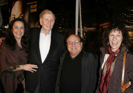 redstone: Sumner Redstone and Danny DeVito at the Los Angeles premiere of Freedom Writers held at the Mann Village Theater in Westwood, California, United States on January 4, 2007.