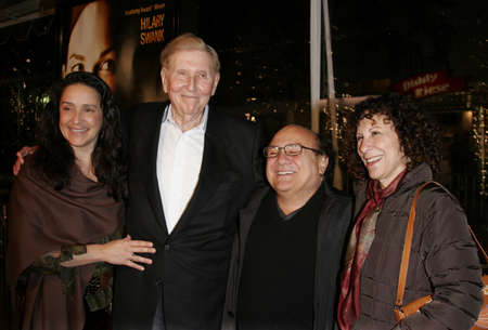 redstone: Sumner Redstone and Danny Devito at the Los Angeles premiere of Freedom Writers held at the Mann Village Theater in Westwood, USA on January 4, 2007.