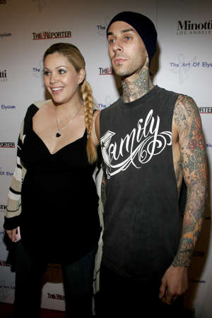 elysium: Travis Barker of Blink 182 and Shanna Moakler at the Art of Elysium Presents Russel Young fame, shame and the realm of possibility held at the Minotti Los Angeles in West Hollywood, USA on November 30, 2005.