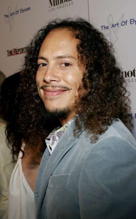 Kirk Hammett of Metallica at the Art of Elysium Presents Russell Young held in West Hollywood, USA on November 30, 2005. Editorial