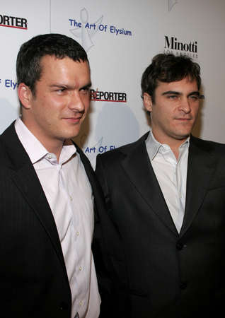 joaquin: Balthazar Getty and Joaquin Phoenix at the Art of Elysium Presents Russell Young held in West Hollywood, USA on November 30, 2005.