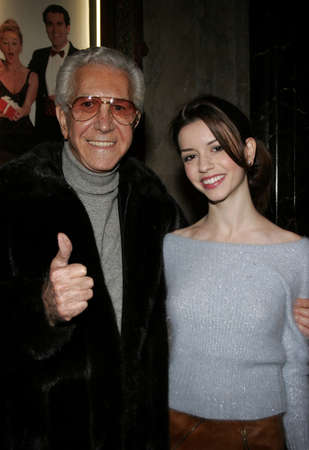 Masiela Lusha at the opening of stage musical version of Irving Berlin's White Christmas held at the Pantages Theatre in Hollywood, California United States on November 28, 2005.