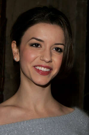 hollywood christmas: Masiela Lusha at the opening of stage musical version of Irving Berlins White Christmas held at the Pantages Theatre in Hollywood, California United States on November 28, 2005.