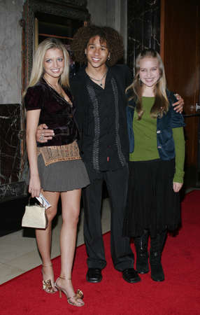 HOLLYWOOD, CALIFORNIA. November 28, 2005. Lauren Storm (L) attends the Red carpet celebrity opening of stage musical version of Irving Berlins White Christmas at the Pantages Theatre in Hollywood, California United States.