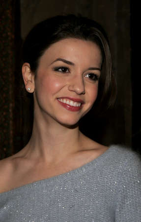 hollywood christmas: HOLLYWOOD, CALIFORNIA. November 28, 2005. Masiela Lusha attends the Red carpet celebrity opening of stage musical version of Irving Berlins White Christmas at the Pantages Theatre in Hollywood, California United States.