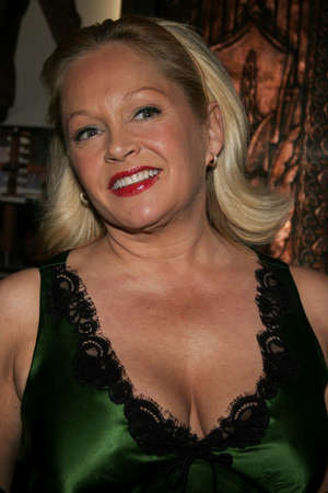 hollywood christmas: HOLLYWOOD, CALIFORNIA. November 28, 2005. Charlene Tilton attends the Red carpet celebrity opening of stage musical version of Irving Berlins White Christmas at the Pantages Theatre in Hollywood, California United States.