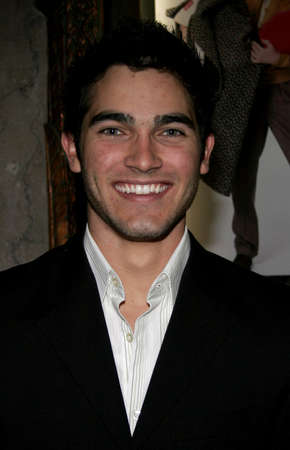 hollywood christmas: HOLLYWOOD, CALIFORNIA. November 28, 2005. Tyler Hoechlin attends the Red carpet celebrity opening of stage musical version of Irving Berlins White Christmas at the Pantages Theatre in Hollywood, California United States.