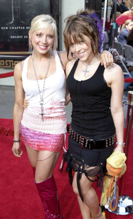exorcist: Ashley Peldon and Courtney Peldon at the Los Angeles premiere of Exorcist: The Beginning held at the Graumans Chinese Theatre in Hollywood, USA on August 18, 2004.