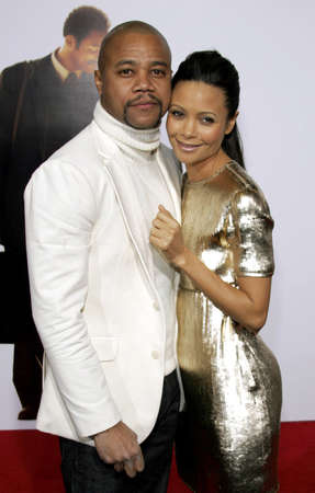 happyness: Cuba Gooding Jr. and Thandie Newton at the Los Angeles premiere of The Pursuit of Happyness held at the Mann Village Theater in Westwood, USA on December 7, 2006. Editorial