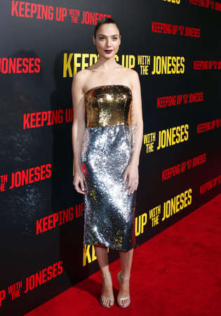 gal: Gal Gadot at the Los Angeles premiere of Keeping Up With The Joneses held at the Fox Studios in Los Angeles, USA on October 8, 2016.