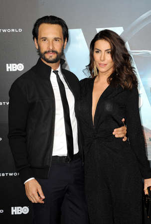 Mel Fronckowiak and Rodrigo Santoro at the Los Angeles premiere of HBOs Westworld held at the TCL Chinese Theatre in Hollywood, USA on September 28, 2016. Editorial