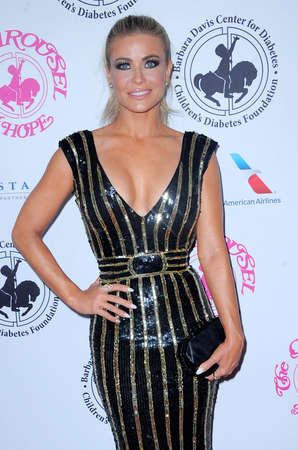 Carmen Electra at the 2016 Carousel Of Hope Ball held at the Beverly Hilton Hotel in Beverly Hills, USA on October 8, 2016. 新闻类图片