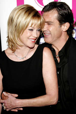 Melanie Griffith and Antonio Banderas at the LALIFF Gabi Award Gala Honoring Antonio Banderas held at the Egyptian Theatre in Hollywood, California, United States on October 14, 2006.